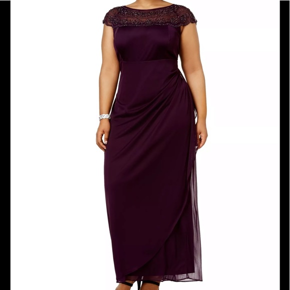 Formal Dresses Plus Size 16W NEW Purple Gowns Prom NWT
